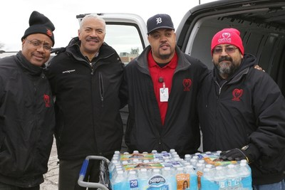 WJBK Fox 2 reporter Huel Perkins with Matrix Staff.  From left to right:  Andre Farmer, Huel Perkins, Jesse Butler and Joel Sauceda