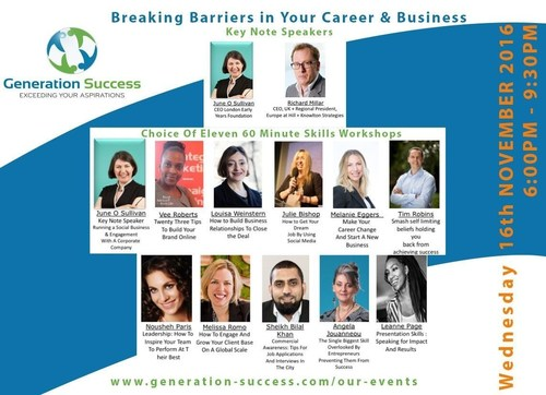 Line up of business leaders set to inspire attendees (PRNewsFoto/Generation Success)