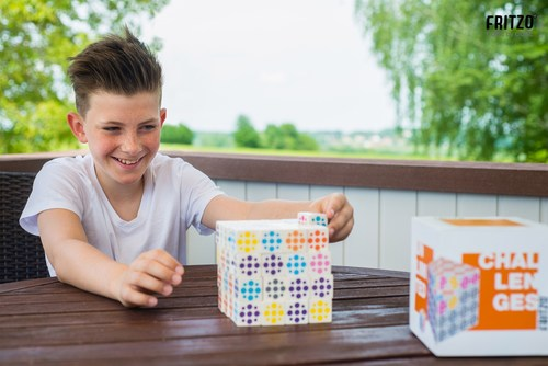 Fritzo is a new 3D-Cube with unlimited playful challenges. 64 single cubes offer two solutions for building a ...