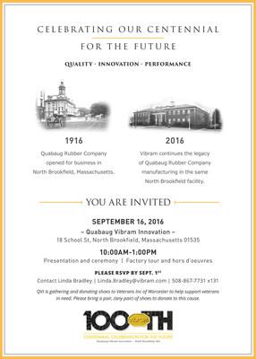 Vibram USA Centennial Celebration Invite