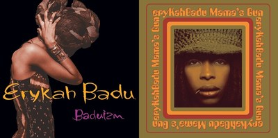 Erykah Badu's game-changing debut, 'Baduizm,' and her smash sophomore album, 'Mama's Gun,' are now available back on vinyl as part of Motown/UMe's Respect The Classics initiative. Previously released on vinyl as a shortened nine-track single LP, this release marks the first time 'Baduizm' has been released on vinyl in its entirety with 14-tracks across two standard-weight LPs. The vinyl reissue of 'Mama's Gun' is also as a double LP.