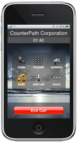 CounterPath Brings Enterprise-Class and Carrier-Grade VoIP Softphone to the Apple iPhone, iPad and