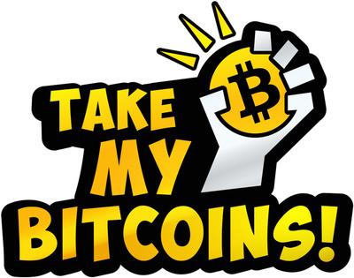 """""""Take My Bitcoins"""".  (PRNewsFoto/Butterfly Labs)"""