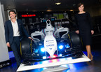 Gavin Patterson, chief executive of BT, and Claire Williams, deputy team principal and commercial director, Williams Martini Racing.