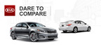 Briggs Kia's new comparison tool both displays and describes the differences between top vehicle choices such as the 2014 Kia Optima vs 2014 Nissan Altima.  (PRNewsFoto/Briggs Kia)