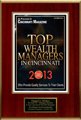 "Daniel L. Weber Selected For ""Top Wealth Managers In Cincinnati"".  (PRNewsFoto/American Registry)"