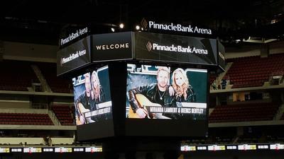 Panasonic Center Hung Display at the New Pinnacle Bank Arena.  (PRNewsFoto/Panasonic Eco Solutions North America)