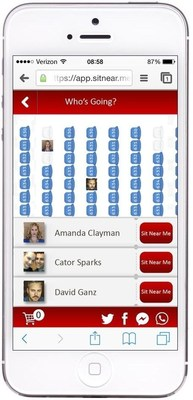 Evento's SitNearMe(TM) Social Ticketing Mobile Platform