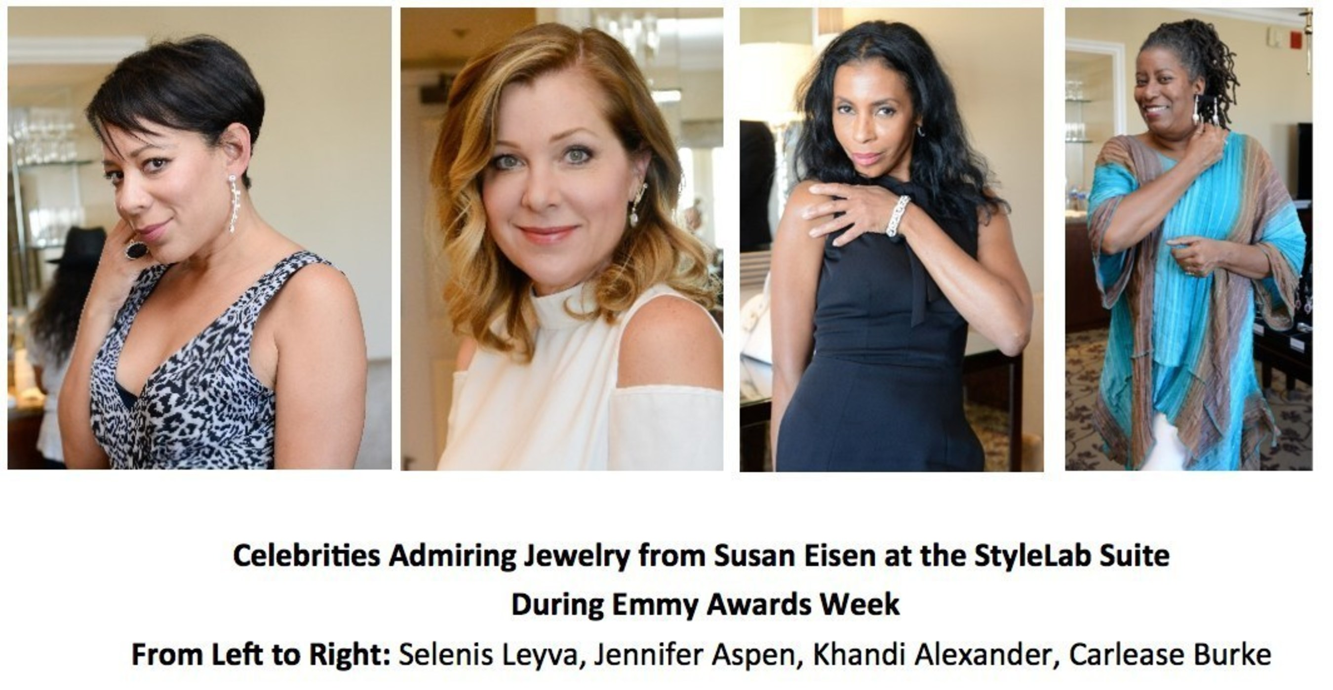 Celebrities And Their Stylists Previewed Jewelry From Susan Eisen At StyleLab's Suite During Emmy Awards Week