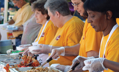 Piccadilly Emergency Service food providers serving meals in a disaster zone. With Piccadilly Emergency Kitchen Piccadilly can serve 100,000 meals in a moment's notice anywhere in the United States.