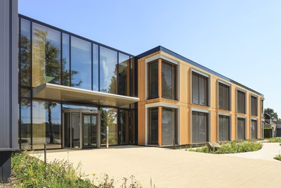 The most sustainable office in the world, the head office of Geelen Counterflow in Haelen, the Netherlands. 99,94% score in the international Breeam certification system. Completely constructed from sustainablyforested wood and generating 50% more solar energy than it consumes. (PRNewsFoto/Geelen Counterflow)