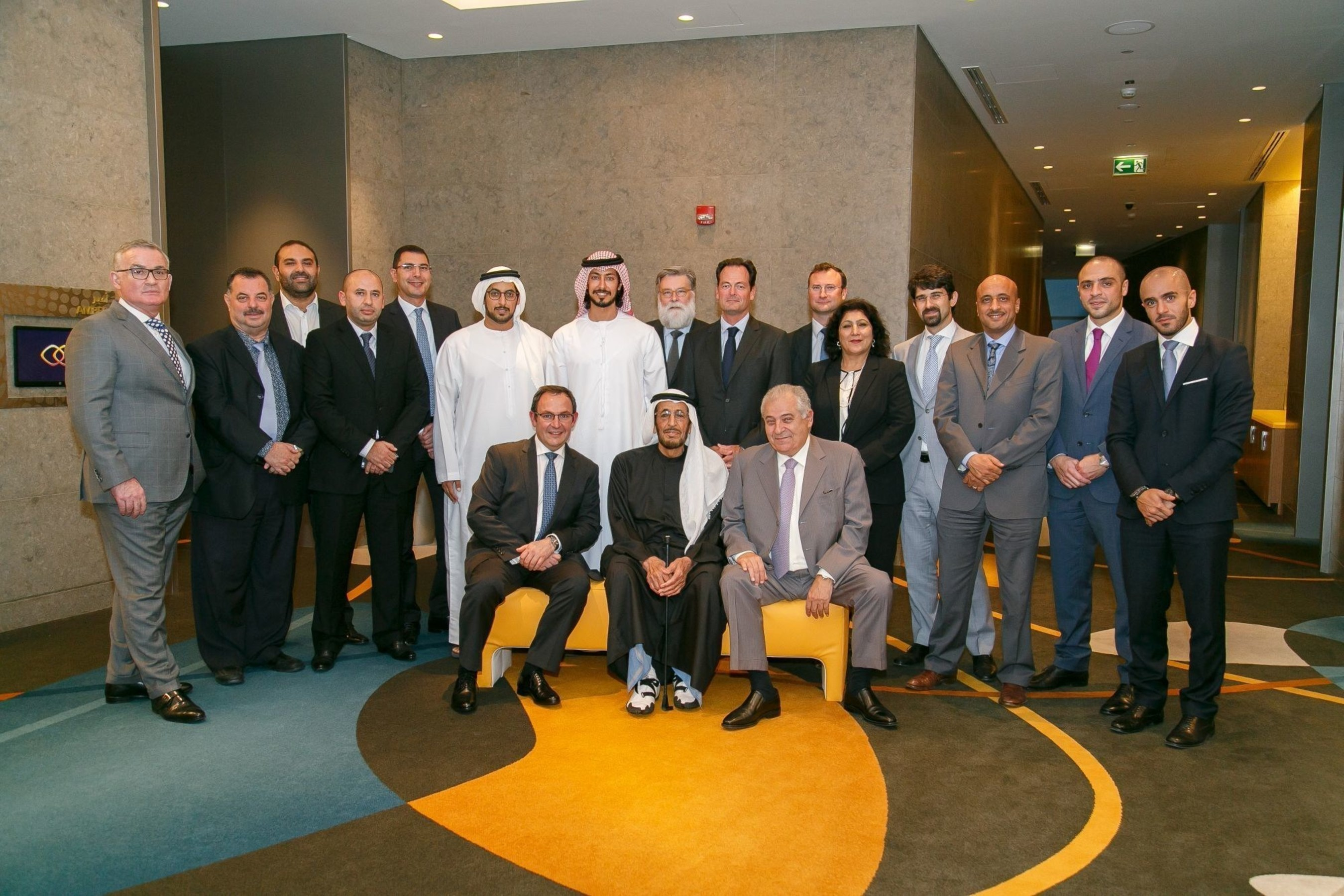 H.E. Saeed bin Ahmed Al Otaiba , Otaiba Saeed Al Otaiba , Aylan Saeed Al Otaiba and Hasabi Real Estate representatives with senior executives from Roya and Accor as well as key stakeholders during the signing ceremony. (PRNewsFoto/Roya International) (PRNewsFoto/Roya International)