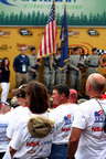 NSK SALUTES MILITARY FAMILIES AT MICHIGAN SPEEDWAY.  Bearings manufacturer invites American servicemen and women, friends and family to NASCAR Sprint Cup race.  (PRNewsFoto/NSK Corporation)