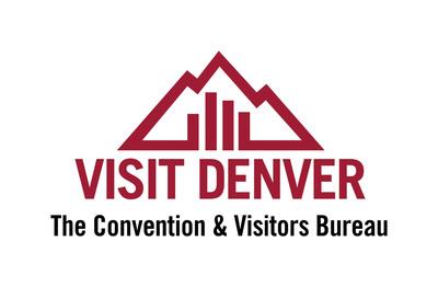 VISIT DENVER, The Convention & Visitors Bureau logo.