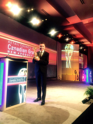 Yves Potvin, Founder & President of gardein at the 22nd annual Canadian Grand Prix New Product Awards.
