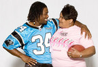 Sandra Hill, 2012 photo with DeAngelo Williams, courtesy Komen Charlotte (PRNewsFoto/Susan G. Komen Charlotte)