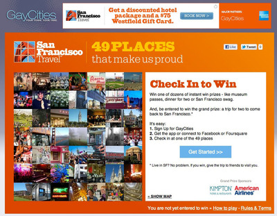 GayCities and San Francisco Travel Association Present: 49 Places That Make Us Proud.  (PRNewsFoto/GayCities, Inc.)