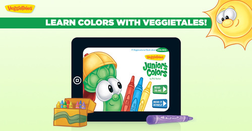 VeggieTales Colors by Storypanda and Big Idea. (PRNewsFoto/Storypanda) (PRNewsFoto/STORYPANDA)