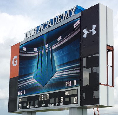 Complete Custom Video and Scoreboard at IMG Academy.  (PRNewsFoto/Panasonic Eco Solutions North America)