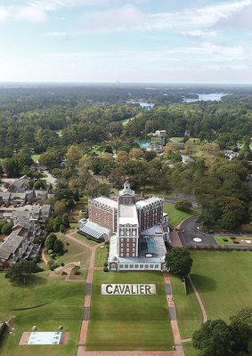 The Cavalier Hotel, a Virginia Beach icon, has earned the distinguished honor of being accepted to the National Register of Historic Places. The 87-year-old hotel is undergoing a 2-year renovation and will reopen in 2016 as a 5-star member of Marriott's distinguished Autograph Collection. (PRNewsFoto/PHR Hotels and Resorts)
