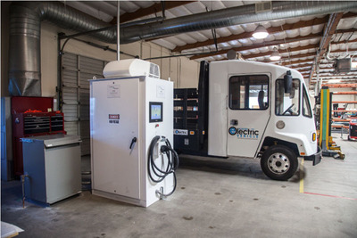 Boulder EV is offering on-site demonstrations of their vehicles performing real V2G bi-directional charging.  (PRNewsFoto/Boulder Electric Vehicle)