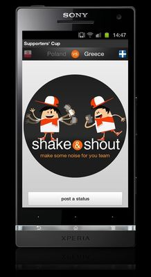 Orange's Shake & Shout Application