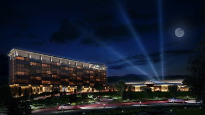 Exterior Image of the proposed Mohegan Sun at the Concord in Thompson, NY. (PRNewsFoto/Mohegan Sun)