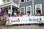 Wayfair employees joined Habitat for Humanity Greater Boston for a local home build. (PRNewsFoto/Wayfair)
