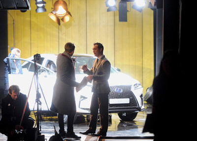 """Actor Jude Law stars in """"The Life RX"""", a new immersive theatre experience and performance celebrating the launch of the boldly designed new Lexus RX on February 9, 2016 in London, England.  (Photo by Stuart C. Wilson/Getty Images for Lexus) (PRNewsFoto/LEXUS)"""