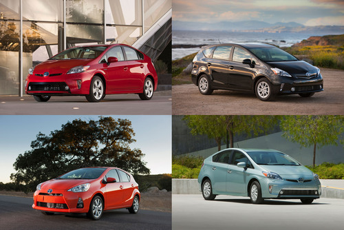 The Prius Family Arrived to Market in 2012.  (PRNewsFoto/Toyota Motor Sales, Inc.)