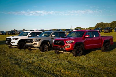 The 2017 Toyota Tacoma TRD Pro shows off its off-road prowess at the 2016 Texas Auto Writers Association's (TAWA) Texas Truck Rodeo, winning the Mid-size Pickup Truck of Texas award.