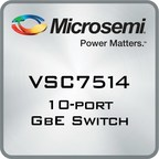 Microsemi Eases Industrial Network Migration to Ethernet with New Low Power, High Feature Switch Family