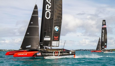ORACLE TEAM USA AC45S yachts reinforced by TeXtreme Technology (PRNewsFoto/TeXtreme (R))