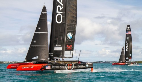 ORACLE TEAM USA AC45S yachts reinforced by TeXtreme Technology (PRNewsFoto/TeXtreme (R)) (PRNewsFoto/TeXtreme (R))