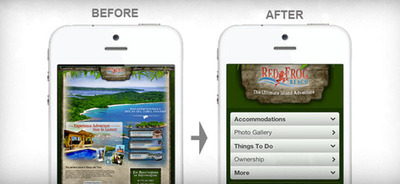 Mobilizing - before and after.  (PRNewsFoto/bMobilized)