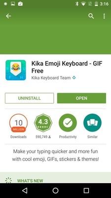 Kika's Top Developer Badge