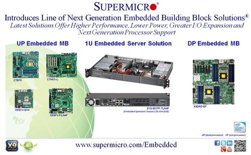 Supermicro® présente sa gamme de solutions intégrées Building Block Solutions® nouvelle génération