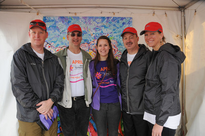 2013 National Walk for Epilepsy(R)The Pretz Family from Brielle, NJ  Left to Right: David Stefanoni (Upsher-Smith), Todd Pretz (NJ), Kelly Pretz (NJ), Steve Placeway (Upsher-Smith), Kim Glisson (Upsher-Smith).  (PRNewsFoto/Upsher-Smith Laboratories, Inc., Joody Carton Photo)