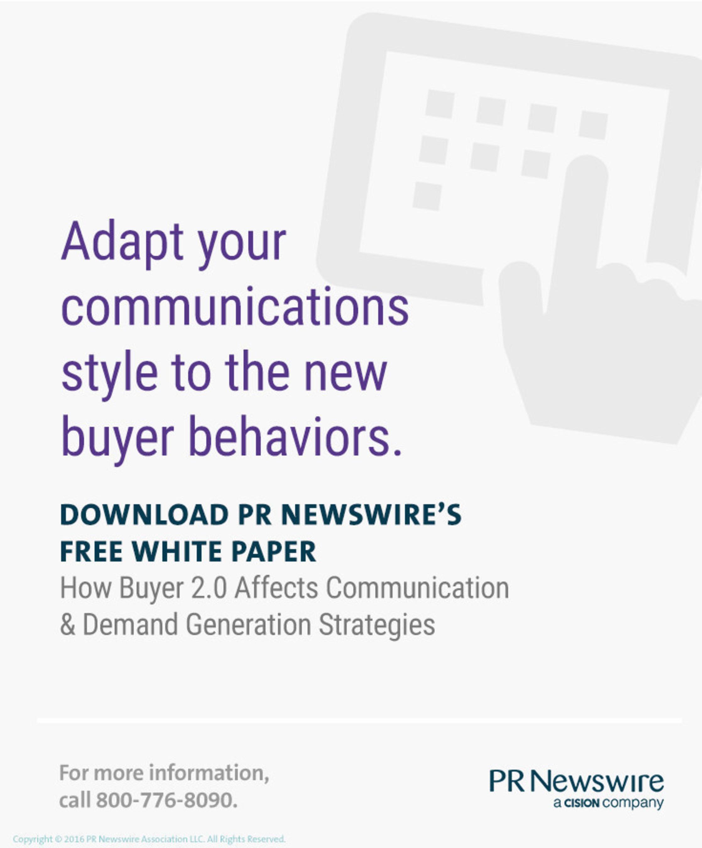 PR Newswire White Paper Explores Using Buyer 2.0 to Shape Communication & Demand Generation Strategies