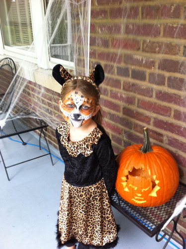 This Halloween, Nat Geo WILD is challenging trick-or-treaters of all ages to help save big cats from extinction by collecting money (along with their candy) for National Geographic's Big Cats Initiative. Visit www.causeanuproar.org to learn more about the Trick-or-Treat for Big Cats campaign and download fun and free resources - including trick-or-treat collection wrappers, Big Cat O'Lantern carving sketches, costume ideas, big cat masks, face paintings and more.  (PRNewsFoto/Nat Geo WILD)