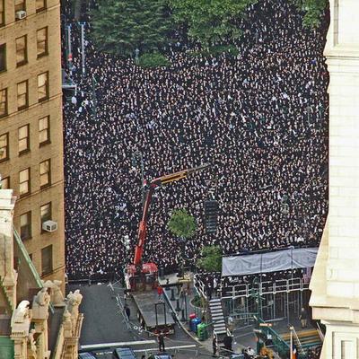 True Torah Jews: Hundred Thousand Jews Gather to Protest New Israeli Draft Law.  (PRNewsFoto/True Torah Jews)