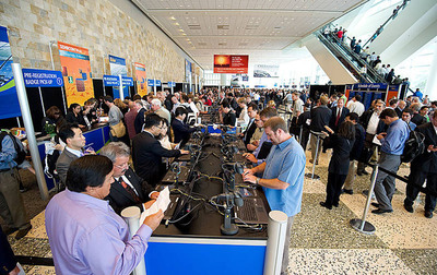 Visitors Register On-Site at Moscone West.  (PRNewsFoto/Intersolar North America)
