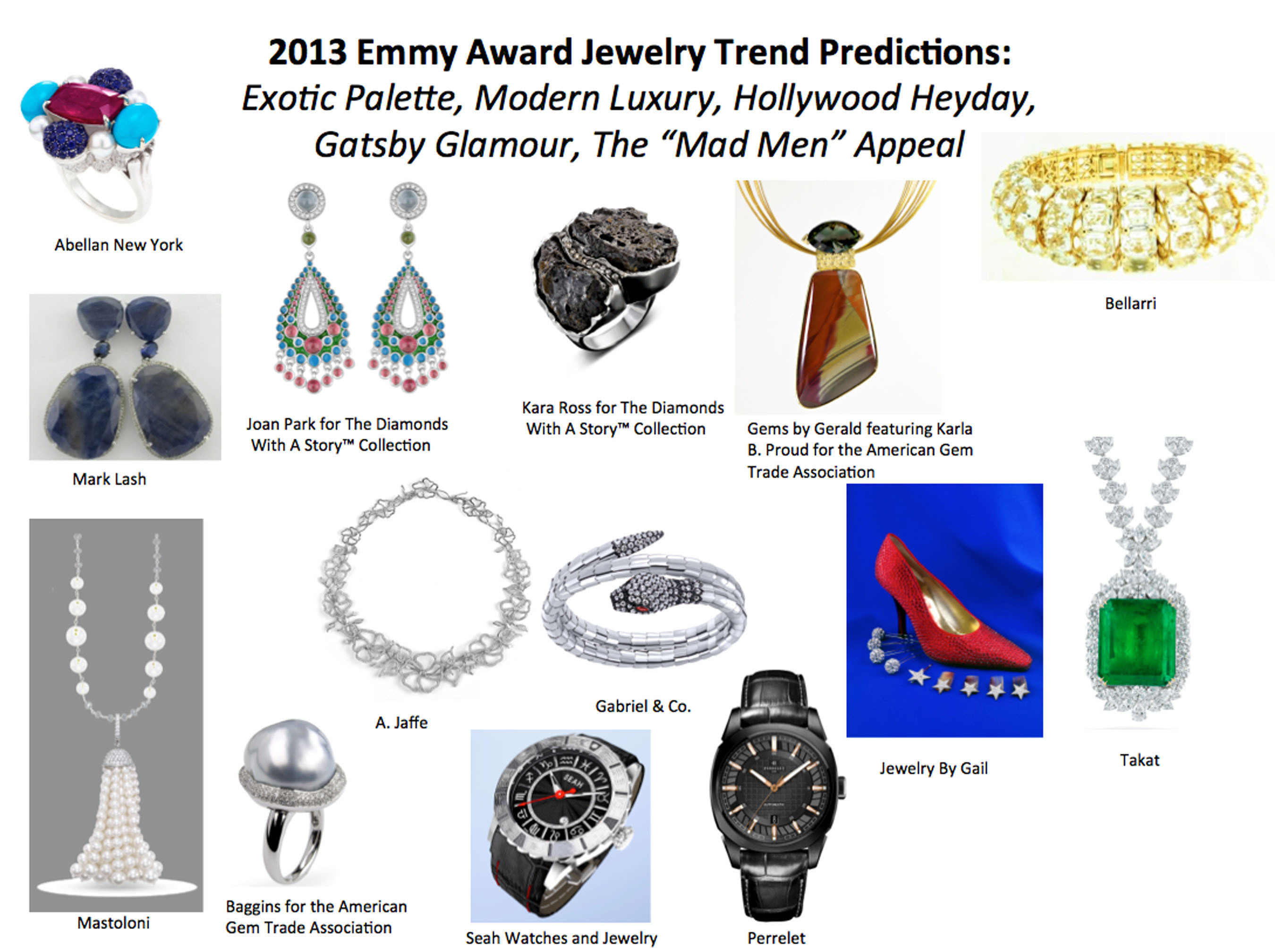Emmy Awards Jewelry Trend Predictions From Leading Style Expert.  (PRNewsFoto/StyleLab)