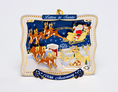 The U.S. Postal Service Salutes 100th Anniversary of Letters to Santa campaign on new holiday ornament.  (PRNewsFoto/U.S. Postal Service)