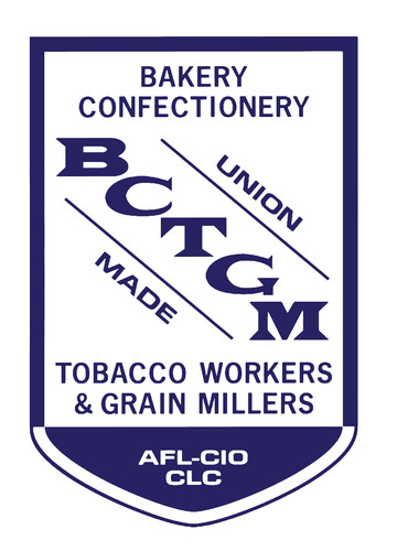 Bakery, Confectionery, Tobacco Workers and Grain Millers International Union Logo.  (PRNewsFoto/Bakery, Confectionery, Tobacco Workers and Grain Millers International Union)