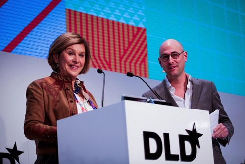 Steffi Czerny and Dominik Wichmann, DLD's managing directors welcomed around 1,500 guests to Europe's big innovation conference in Munich. (PRNewsFoto/Hubert Burda Media) (PRNewsFoto/Hubert Burda Media)