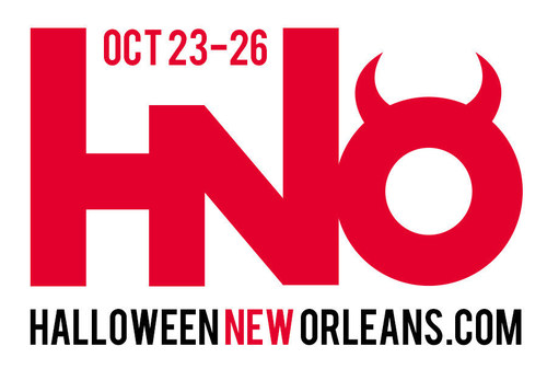 """Official logo of Halloween New Orleans 2014. This year's theme is """"Descent: Journey into the ..."""