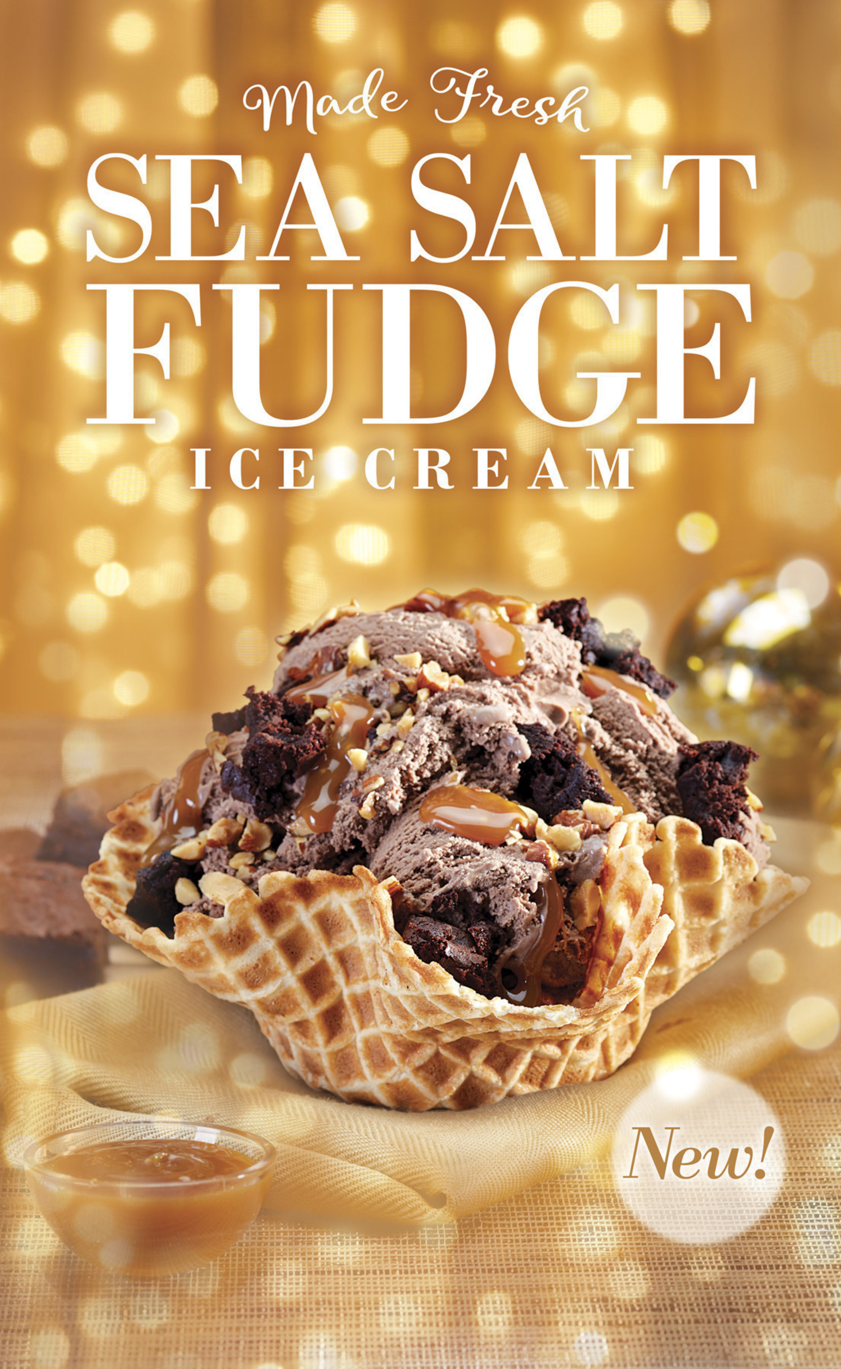 Cold Stone Creamery Sea Salt Fudge Creation available for a limited time.