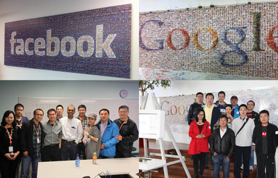 Delegations from PinYou Interactive are visiting Facebook and Google. They were on a trip to the RTB companies in Silicon Valley.  (PRNewsFoto/IPinYou)