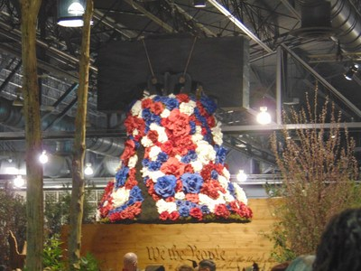 Wounded veterans and family explore the Philadelphia Flower Show.